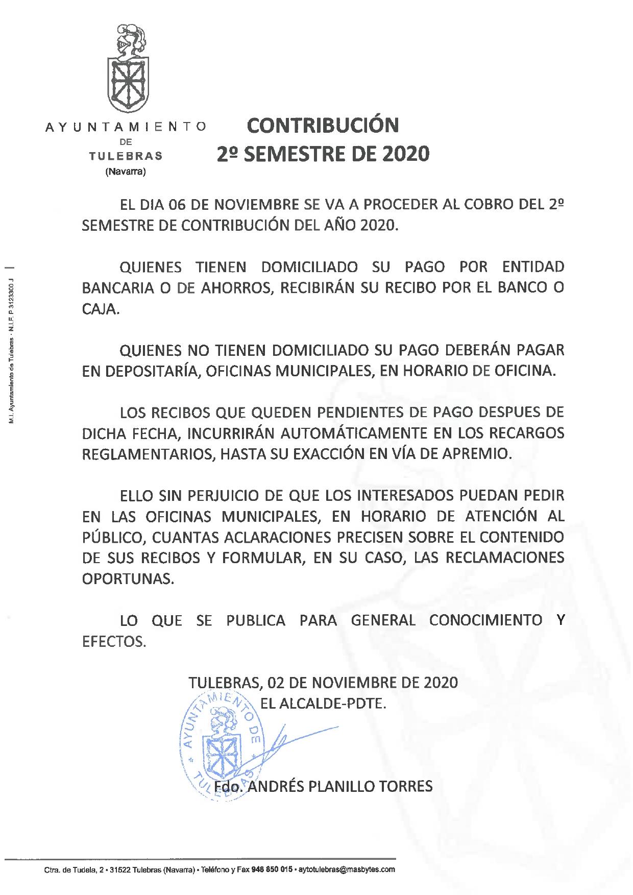 Contribución 2º SEMESTRE DE 2020